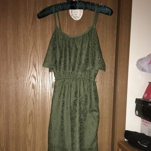 Green almost Famous hi low dress